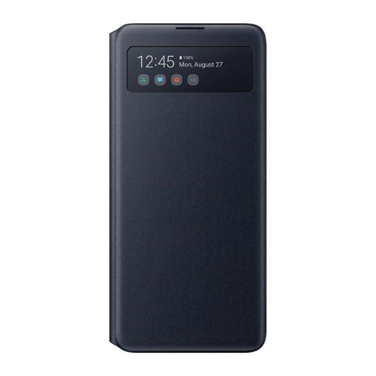 Pouzdro Samsung S-View Wallet Cover EF-EN770PBE pro Samsung Galaxy Note 10 Lite-N770F, Black