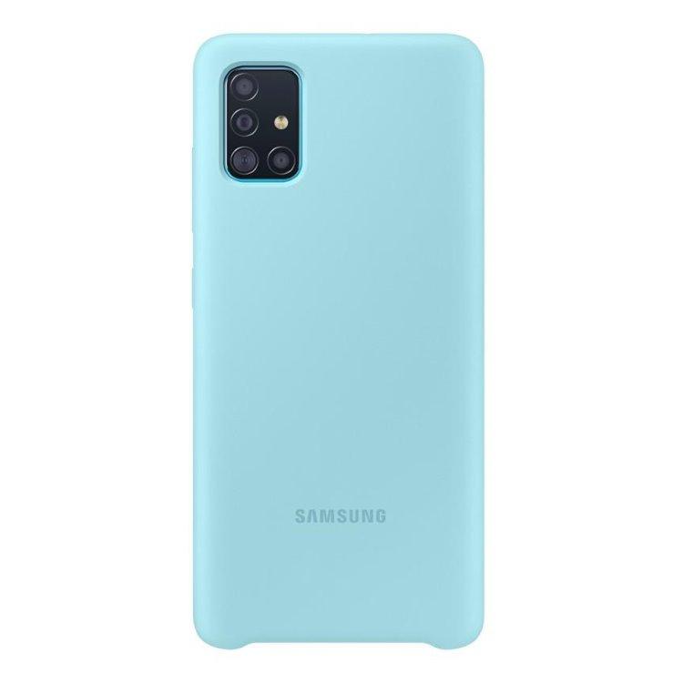 Pouzdro Samsung Silicone Cover EF-PA515TLE pro Samsung Galaxy A51-A515F, Blue