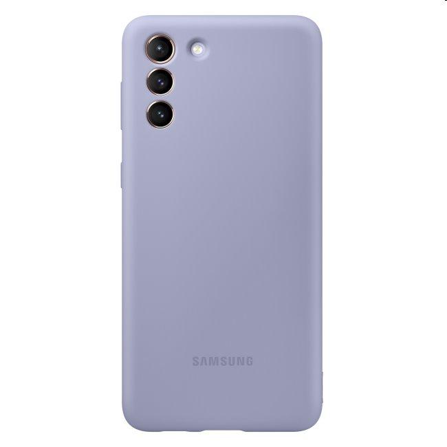 Puzdro Silicone Cover pre Samsung Galaxy S21 - G991B, violet (EF-PG991T)