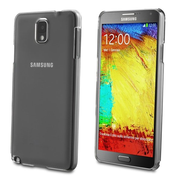 Pouzdro silikonové CellularLine Invisible pro Samsung Galaxy Note 3-N9005 a N9000, Black