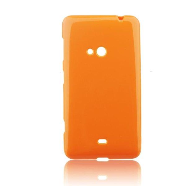 Pouzdro silikonové Jelly Case pro Nokia Lumia 625, Orange