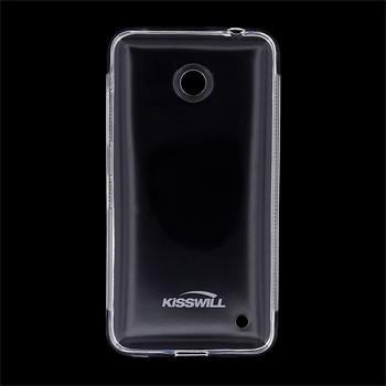 Pouzdro silikonové Kisswill pro Nokia Lumia 630, Transparent