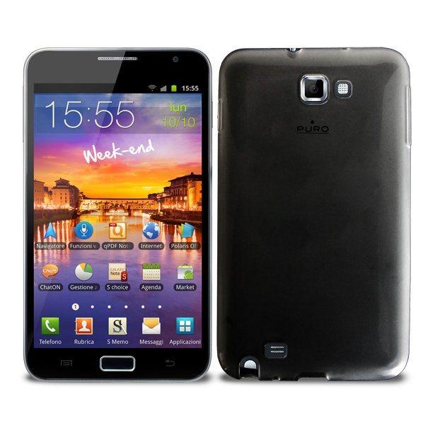 Pouzdro silikonové PURO Plasma pro Samsung Galaxy Note - N7000, Black