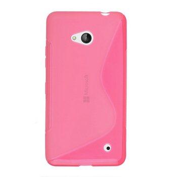Pouzdro silikonové S-TYPE pro Microsoft Lumia 640, Microsoft Lumia 640 LTE, Pink