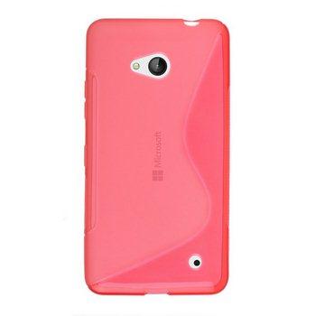 Pouzdro silikonové S-TYPE pro Microsoft Lumia 640, Microsoft Lumia 640 LTE, Red