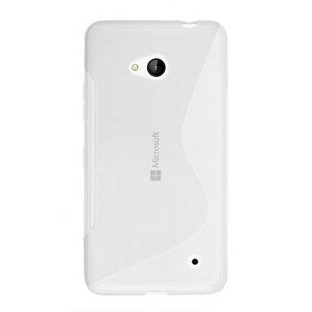 Pouzdro silikonové S-TYPE pro Microsoft Lumia 640, Microsoft Lumia 640 LTE, Transparent