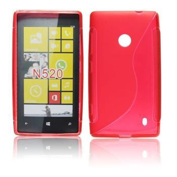 Pouzdro silikonové S-TYPE pro Nokia Lumia 520 a Nokia Lumia 525, Purple