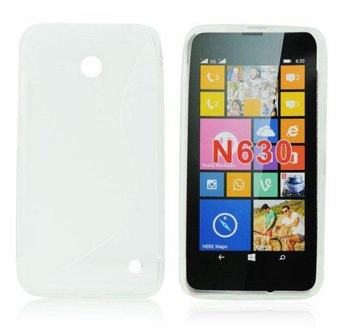 Pouzdro silikonové S-TYPE pro Nokia Lumia 630 a 635, Clear