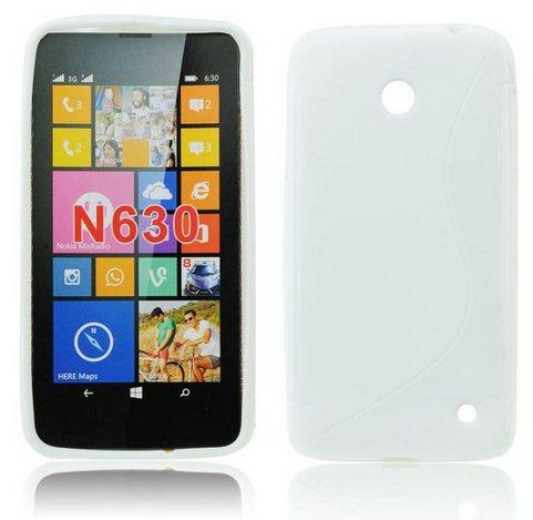 Pouzdro silikonové S-TYPE pro Nokia Lumia 630 a 635, White