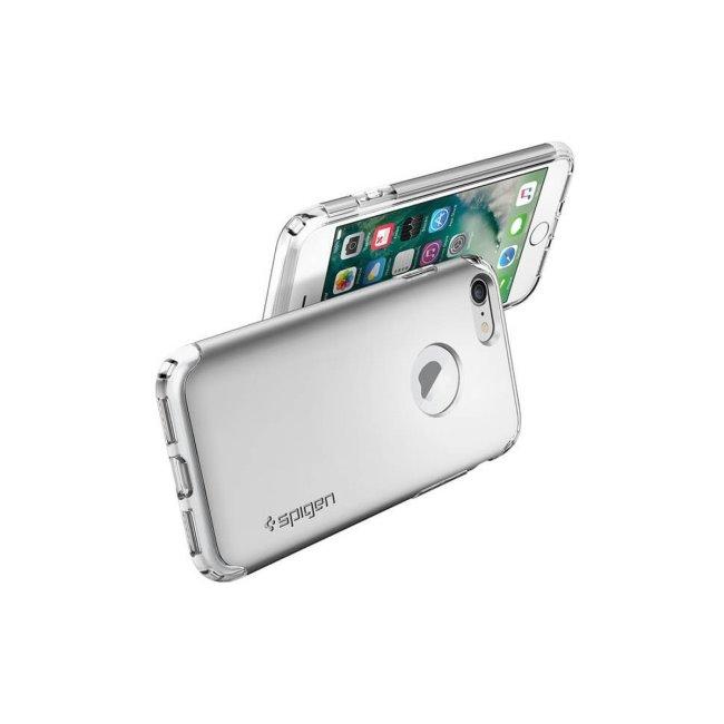 Puzdro Spigen Hybrid Armor pre iPhone 7/8 - Satin Silver