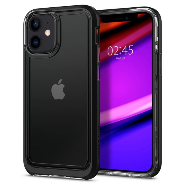 Pouzdro Spigen Neo Hybrid Crystal pro Apple iPhone 12 Mini, černé