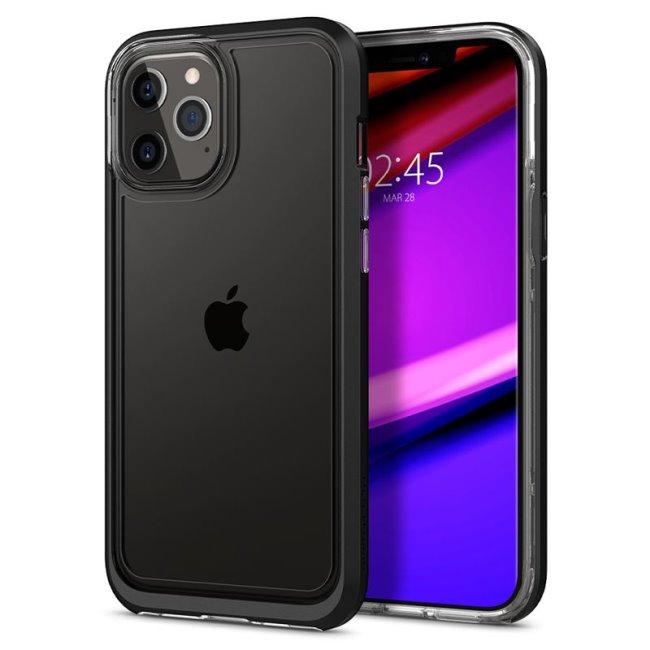 Pouzdro Spigen Neo Hybrid Crystal pro Apple iPhone 12 Pro Max, černé