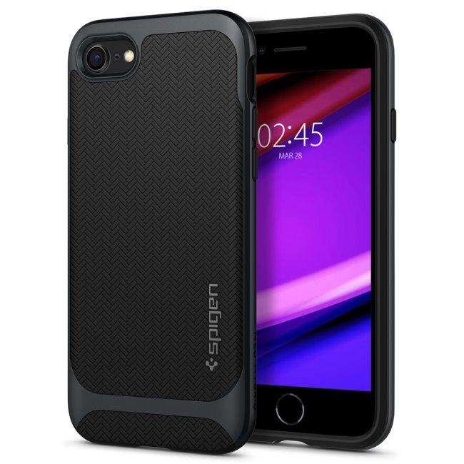 Pouzdro Spigen Neo Hybrid pro Apple iPhone SE/8/7, Gunmetal