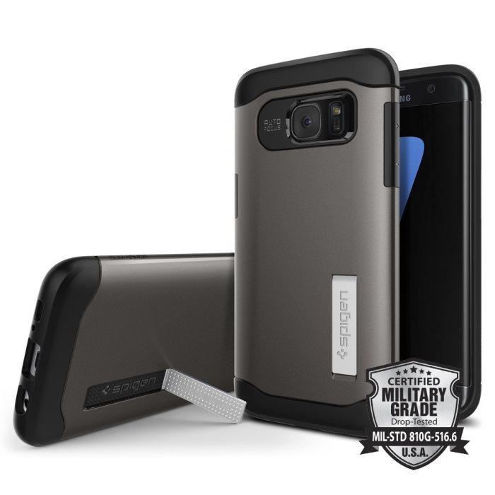 Puzdro Spigen Slim Armor pre Samsung Galaxy S7 Edge - G935F, GunMetal