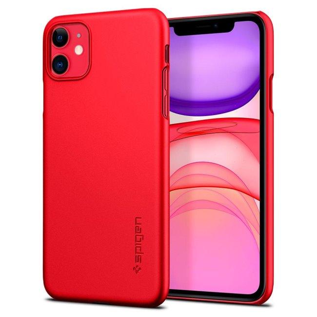Pouzdro Spigen Thin Fit pro Apple iPhone 11, red