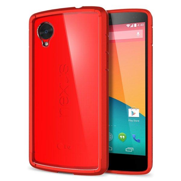 Spigen Ultra Hybrid pro LG Nexus 5-D821, Bright red