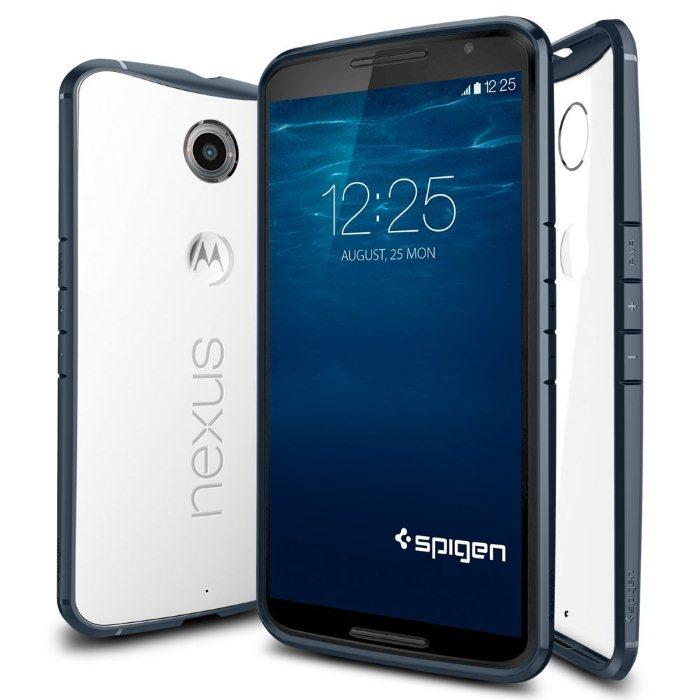 Spigen Ultra Hybrid pro Motorola Nexus 6, Metal Slate