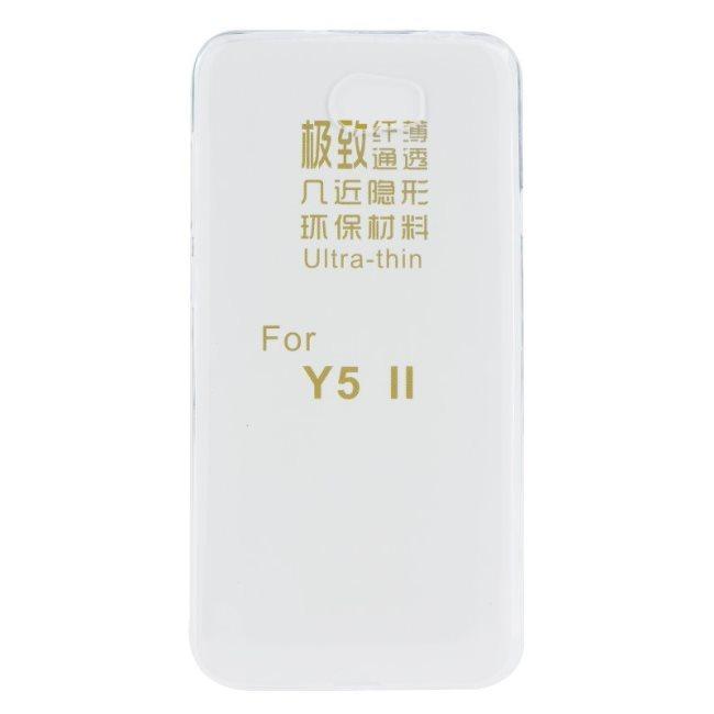 Pouzdro ultra tenké pro Huawei Y5II a Huawei Y6II Compact, Transparent