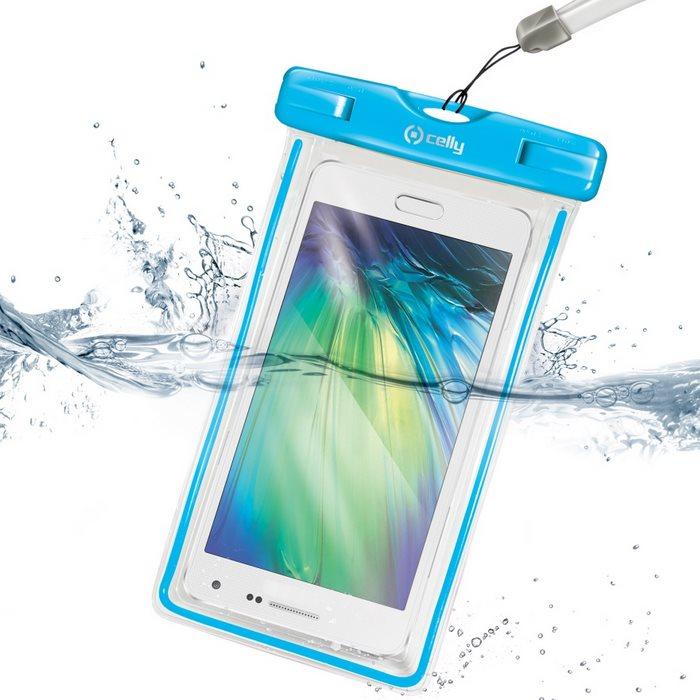 Pouzdro vodotěsné Celly pro EVOLVEO StrongPhone D2 mini, Blue
