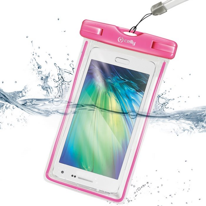 Pouzdro vodotěsné Celly pro Sony Xperia J - ST26, Pink
