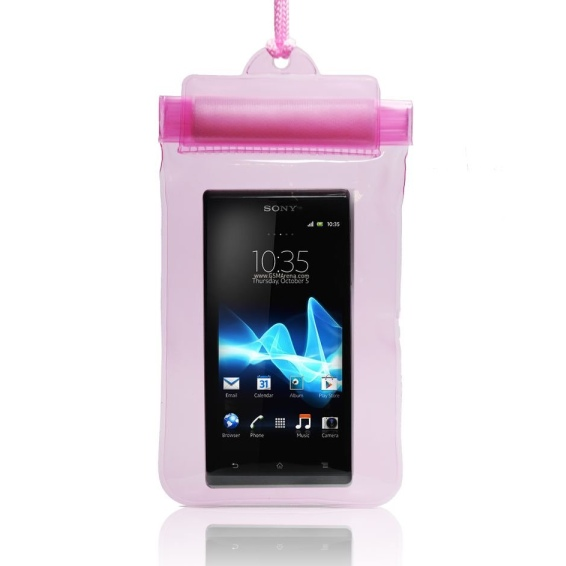 Pouzdro vodotěsné pro Sony Ericsson Xperia X8, Pink