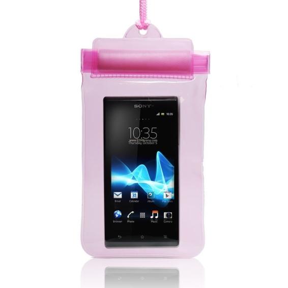 Pouzdro vodotěsné pro Sony Xperia J-ST26, Pink