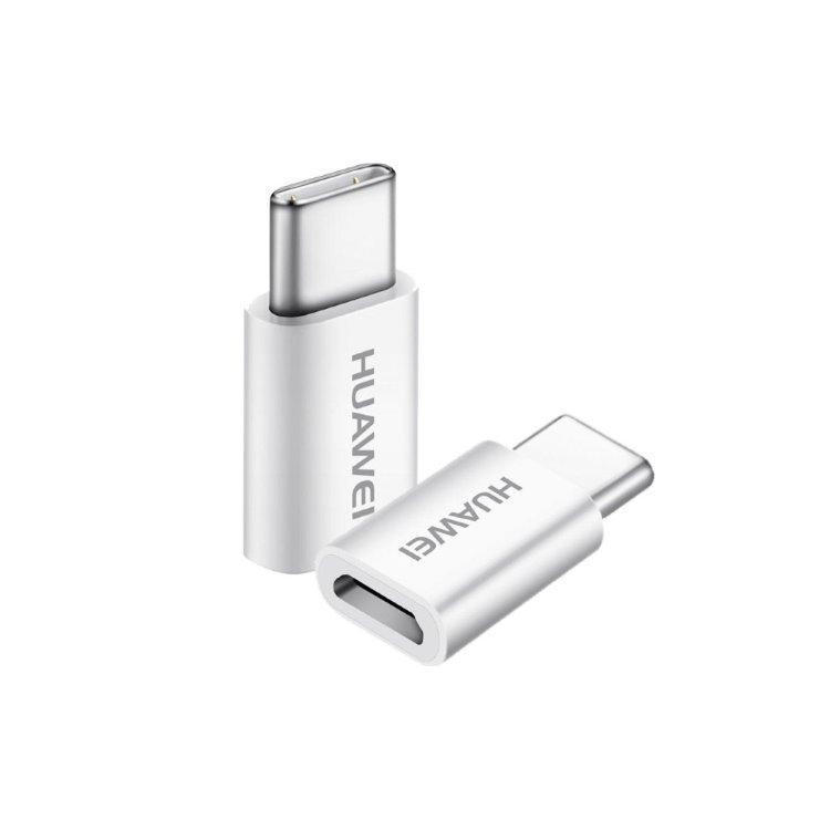 Redukce Huawei AP20 z MicroUSB na USB-C, White
