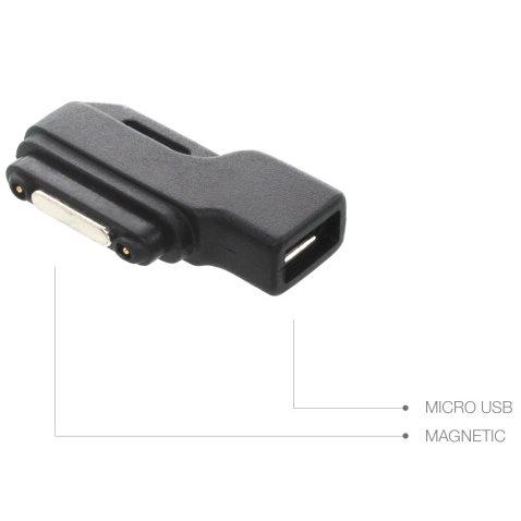 Redukce Micro USB na magnetický konektor pro nabíjení Sony Xperia Z1, Z1 Compact, Z2 a Z Ultra, Z3 a Z3 Compact, Black