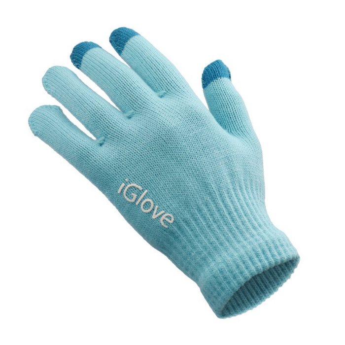 Rukavice Iglov na ovládání dotykového displeje, Blue-Dámské-velikost 18x11 cm