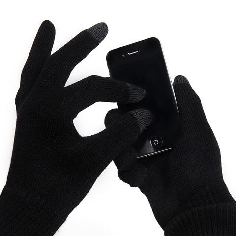 Rukavice pro ovládání dotykového displeje, černé