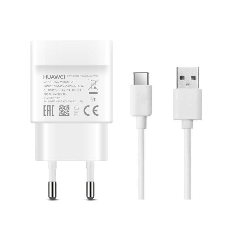 Rychlonabíječka Huawei AP32 supercharge (18W) s USB-C kabelem, White