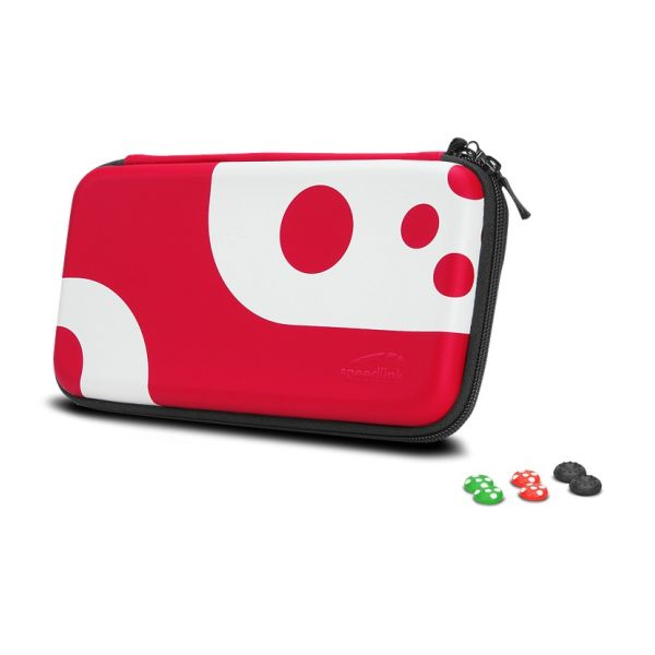 Sada Speedlink Caddy & Stix Protect & Control Kit pro Nintendo Switch, červená