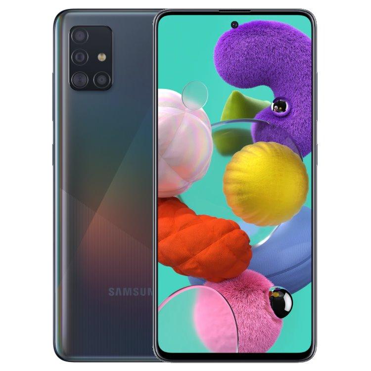 Samsung Galaxy A51-A515F, 4/128GB, Dual SIM, Black-CZ distribuce