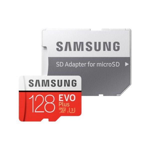 Samsung Micro SDXC EVO Plus 128GB (2020) + SD adaptér, UHS-I U3, Class 10-rychlost 100/60 MB/s (MB-MC128HA/EU)