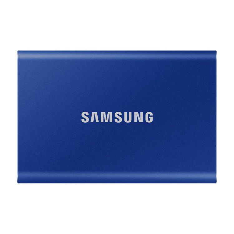 Samsung SSD T7, 2TB, USB 3.2-rychlost 1050/1000 MB/s (MU-PC2T0H/WW), Blue