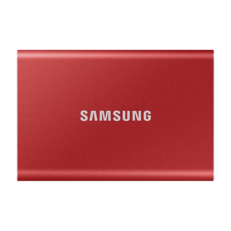 Samsung SSD T7, 500GB, USB 3.2-rychlost 1050/1000 MB/s (MU-PC500R/WW), Red