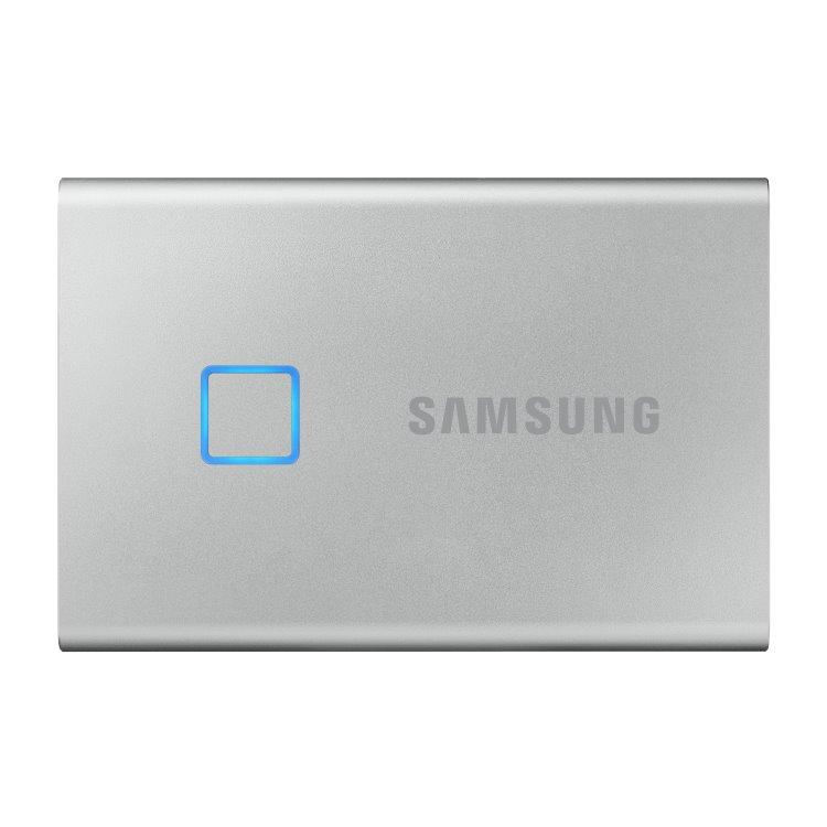 Samsung SSD T7 Touch, 500GB, USB 3.2 - rýchlosť 1050/1000 MB/s (MU-PC500S/WW), Silver