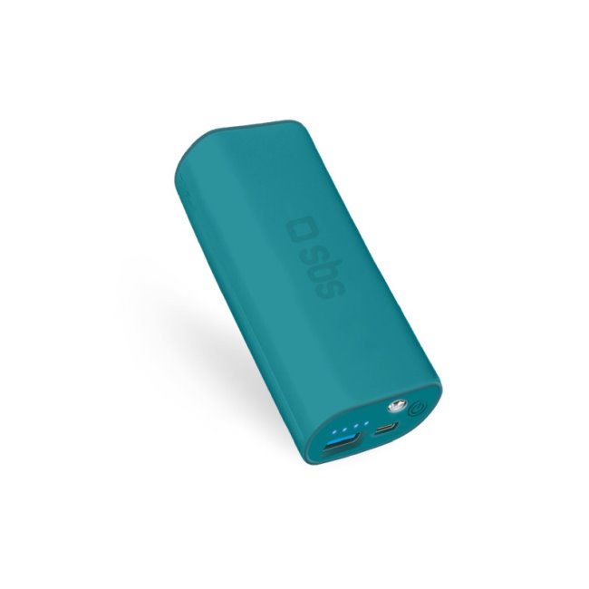 SBS záložní zdroj-Power Bank Compact 5000 mAh, modrá