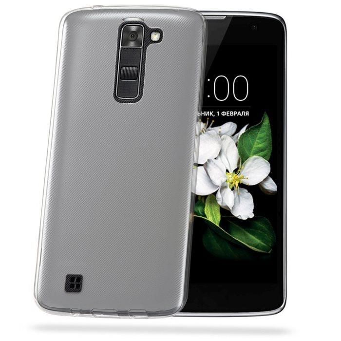 Silikonové puzdro Celly Premium GelSkin pre LG K7 - X210, Transparent