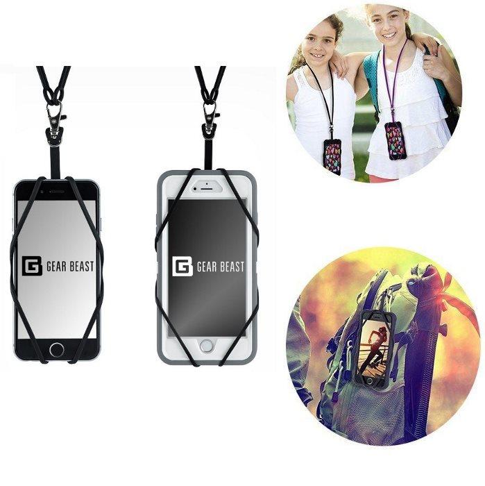 Silikonový náhrdelník/poutko na zápěstí BestHolder pro Váš smartphone, Black