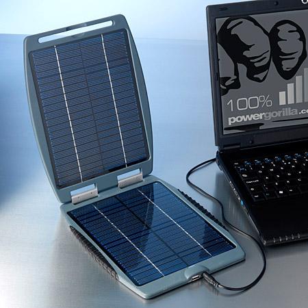 Solargorilla, solární záložní nabíječka pro notebooky, netbooky, MT, PDA, GPS, MP3