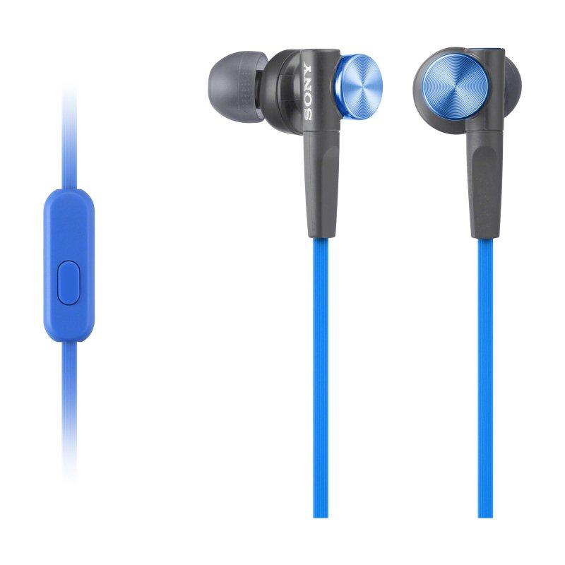 Sony MDR-XB50AP, kabelový Stereo Headset, Blue
