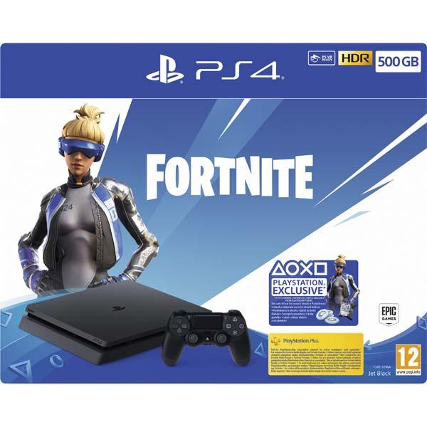 Sony PlayStation 4 Slim 500GB, jet black (Fortnite 2000 V Bucks Neo Versa Bundle)
