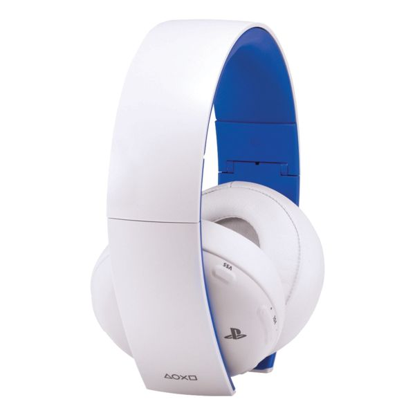 Sony PlayStation Gold Wireless Stereo Headset for PS4, PS3 & PS Vita, white