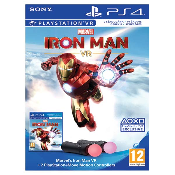 Marvel's Iron Man VR Bundle + 2 PlayStation Move Motion Controllers