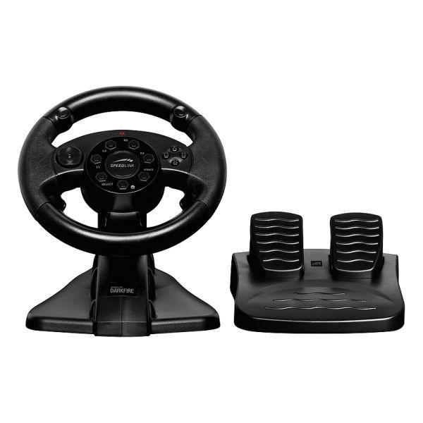 Speed-Link Darkfire Racing Wheel for PC & PS3, black