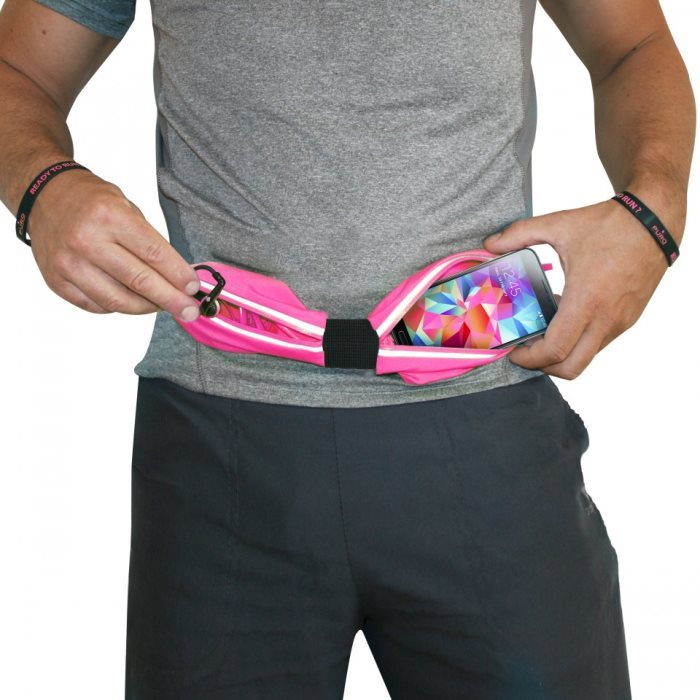 Športové puzdro na opasok PURO - 2 vrecká pre Doogee Hitman DG850, Pink