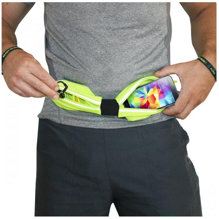 Športové puzdro na opasok PURO - 2 vrecká pre LG L Fino - D290n, LG L Fino Dual - D295, Green