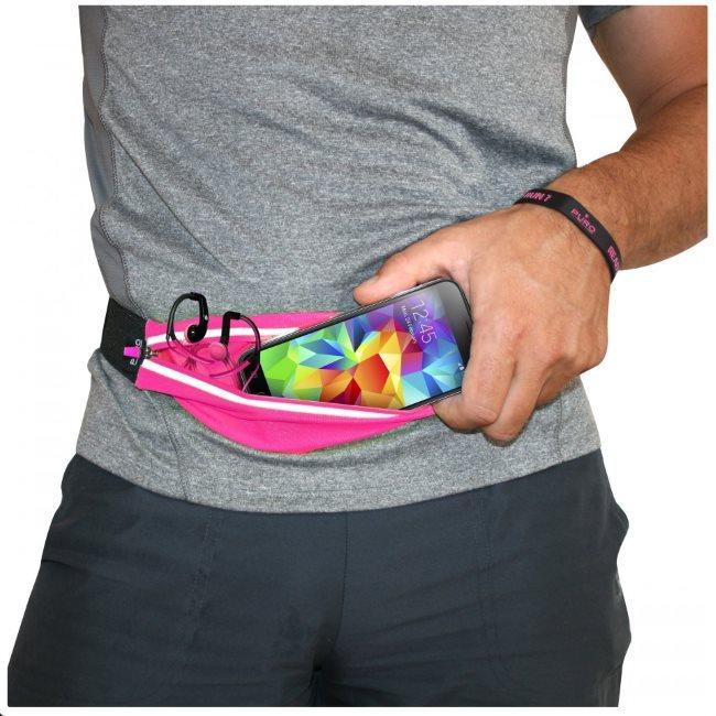 Športové puzdro na opasok PURO pre GoClever Quantum 450 Lite, Pink