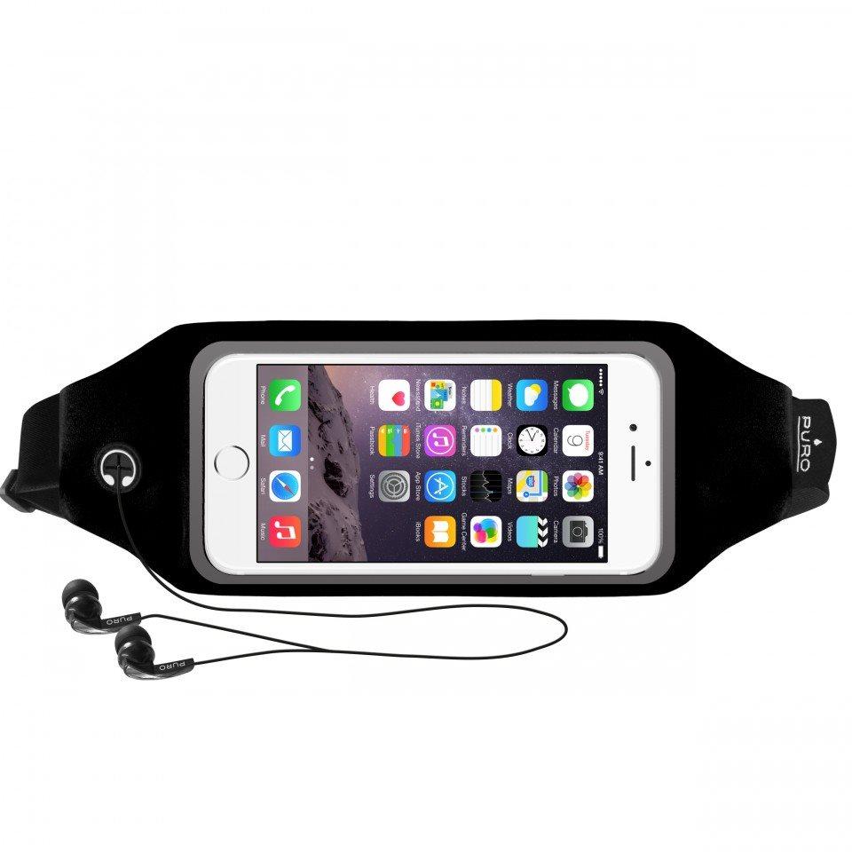 Športové puzdro na opasok PURO s okienkom pre LG L Fino - D290n, LG L Fino Dual - D295, Black